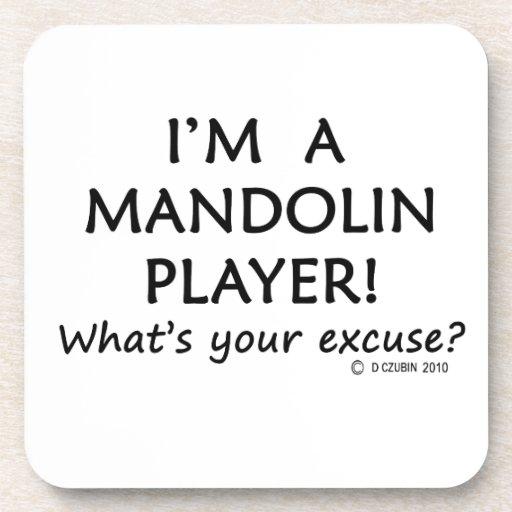 Excusa del jugador de la mandolina posavasos