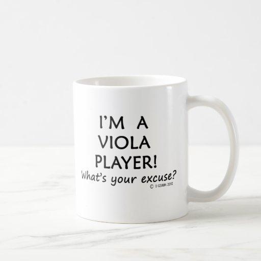Excusa del jugador de la viola taza básica blanca