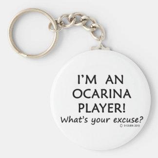 Excusa del jugador de Ocarina Llavero Personalizado