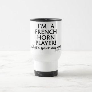Excusa del jugador de trompa taza de viaje