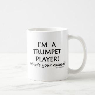 Excusa del jugador de trompeta taza de café