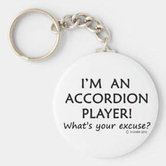 Excusa del jugador del acordeón llavero