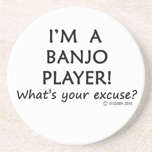 Excusa del jugador del banjo posavasos cerveza