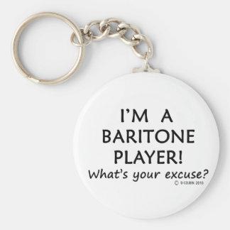 Excusa del jugador del barítono llaveros personalizados