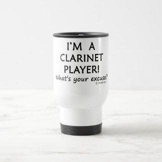 Excusa del jugador del Clarinet Taza De Viaje