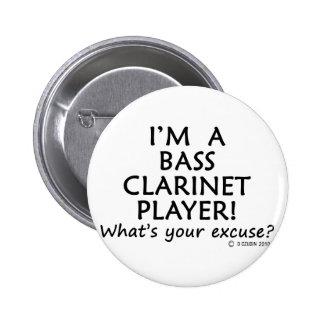 Excusa del jugador del clarinete bajo pin