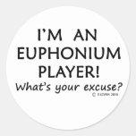 Excusa del jugador del Euphonium Pegatinas Redondas