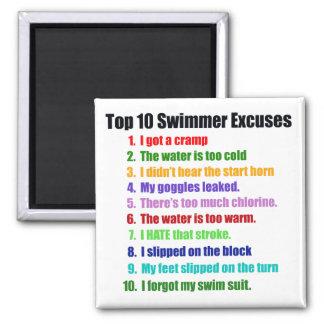 Excusas de los nadadores del Top Ten Imán Cuadrado