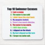 Excusas de los nadadores del Top Ten Tapete De Ratón