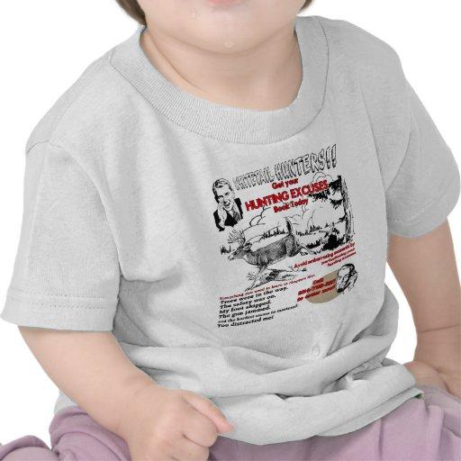 excusas del cazador del vintage camisetas