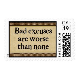 Excusas del malo: Sellos