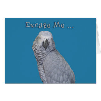 Excuse Me Birthday Cards