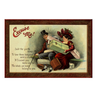 Excuse me! Repro Vintage 1911 Poster