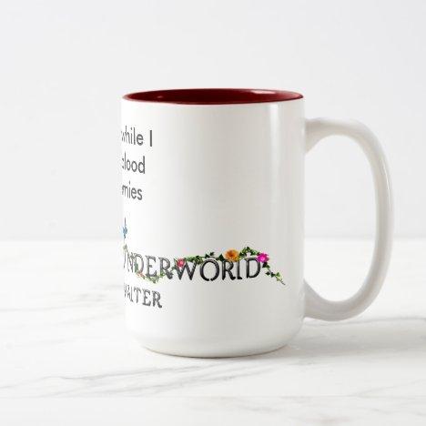 """Excuse me while I enjoy the blood of my enemies"" Two-Tone Coffee Mug"