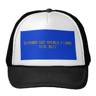 EXCUSE ME WHILE I KISS THE SKY TRUCKER HAT
