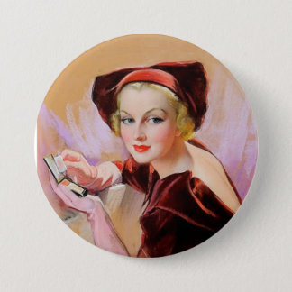 Excuse me while I powder my nose Pinback Button