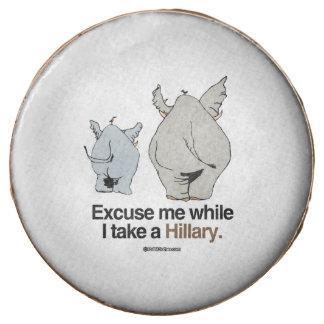 Excuse me while I take a Hillary Chocolate Dipped Oreo