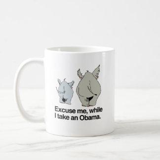 Excuse me while I take an Obama copy.png Classic White Coffee Mug