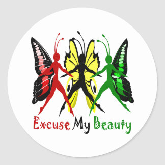 Excuse My Beauty Classic Round Sticker
