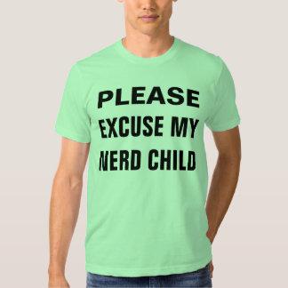 excuse my nerd child shirts