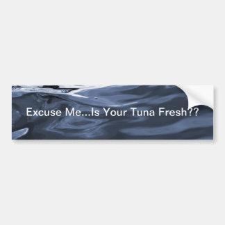 Excúseme pegatina para el parachoques del atún pegatina para auto