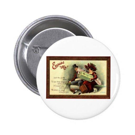 ¡Excúseme! Vintage 1911 de Repro Pins