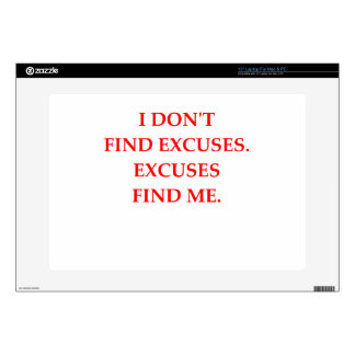 excuses laptop decal