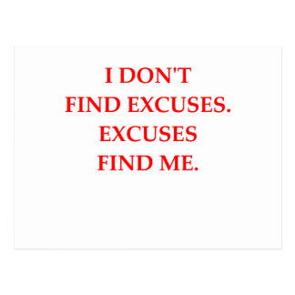 excuses postcard