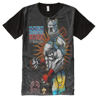 ExE Dogo Argentino Cyborg MMA All-Over-Print T-Shirt
