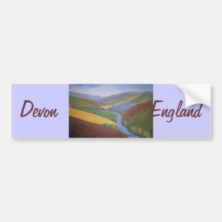 Exe Valley View by Janet Davies,Devon Car Bumper Sticker