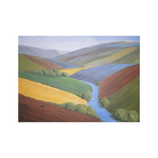Exe Valley View by Janet Davies,Devon Canvas Print