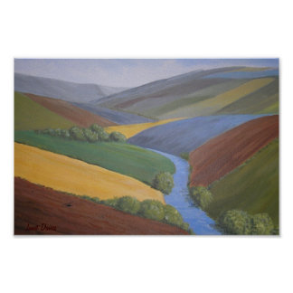 Exe Valley View by Janet Davies Posters
