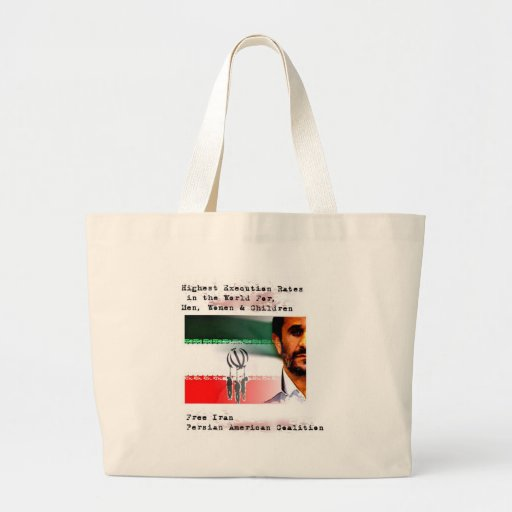 Execution in Iran Canvas Bags