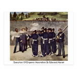 Execution Of Emperor Maximilian By Edouard Manet Post Cards