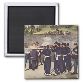 Execution of Emperor Maximilian of Mexico - Manet 2 Inch Square Magnet