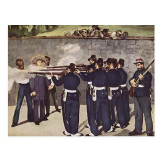 Execution of Emperor Maximilian of Mexico - Manet Postcard