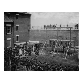 Execution of Four People Lincoln Conspirators Poster