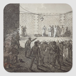 Execution of Hostages During the Commune, 1871 Square Sticker