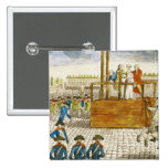 Execution of Marie-Antoinette 2 Inch Square Button