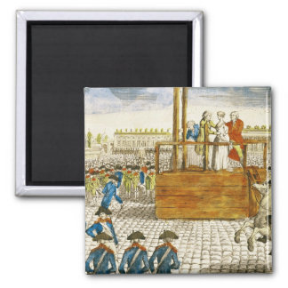 Execution of Marie-Antoinette 2 Inch Square Magnet