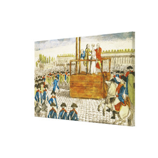 Execution of Marie-Antoinette Canvas Print