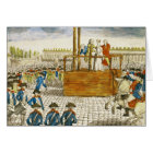 Execution of Marie-Antoinette Card