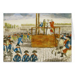 Execution of Marie-Antoinette Greeting Card