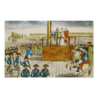 Execution of Marie-Antoinette Poster
