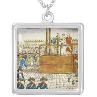 Execution of Marie-Antoinette Silver Plated Necklace