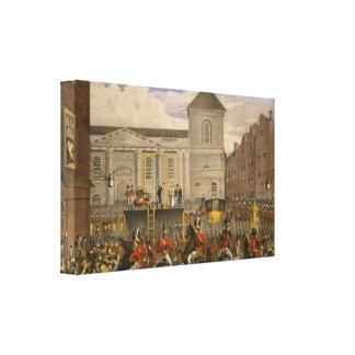 Execution Robert Emmet in Thomas Street Box Canvas