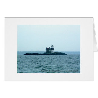 Execution Rocks Lighthouse, Long Island Sound. Card