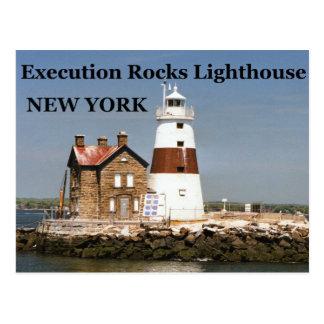 Execution Rocks Lighthouse, New York Postcard