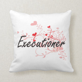 Executioner Artistic Job Design with Hearts Pillow
