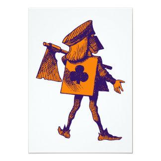 "Executioner of Clubs Purple Orange 5"" X 7"" Invitation Card"